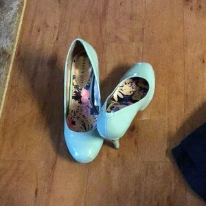 Blue Patent Leather Heels Madden Girl